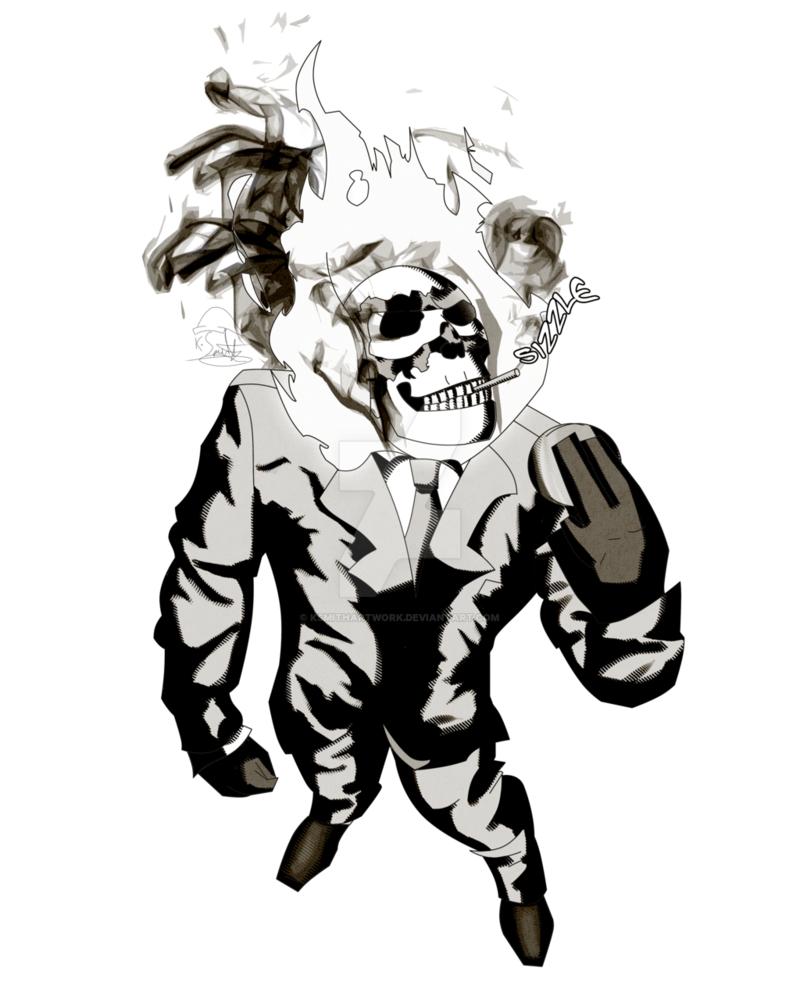 Drawing marker ghost rider. Team fortress spy by
