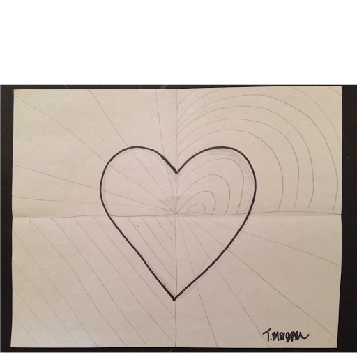 Drawing marker heart. Begin by a on