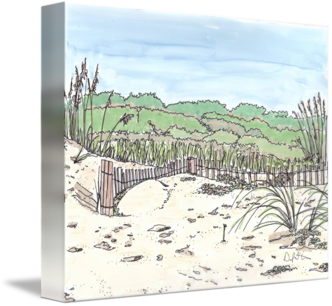 Drawing marker landscape. Myrtle beach sc by