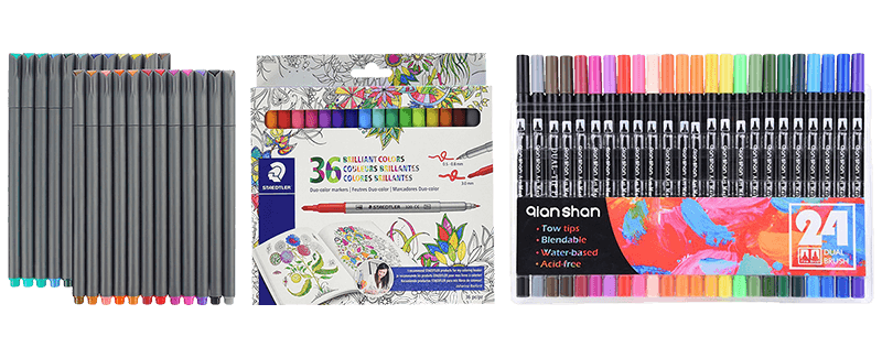 Drawing marker pastel. Best markers for coloring
