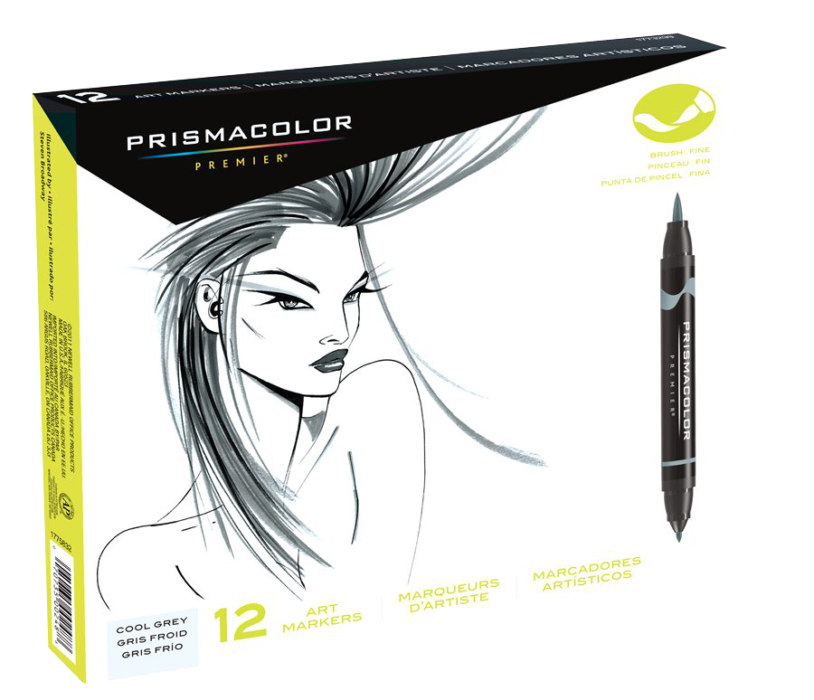 Drawing illustration marker. Prismacolor premier brush set