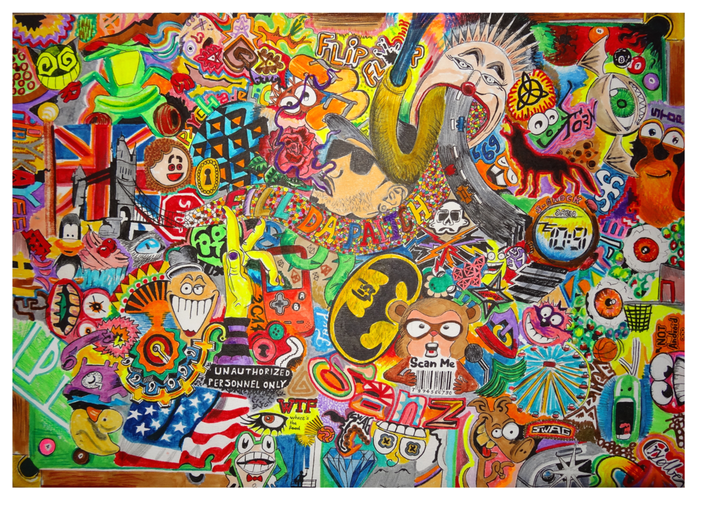 Drawing marker psychedelic. Ii by rycolber on