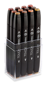 Drawing marker touch. Shinhan art twin sets