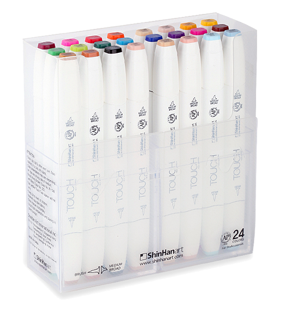 Drawing marker touch. Pen gift sets from