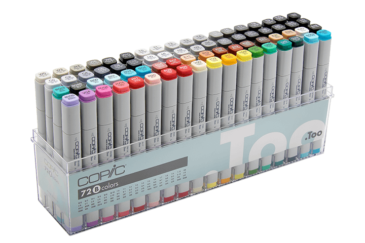 Drawing marker touch. History of copic official