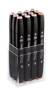Drawing marker touch. Shinhan twin markers set