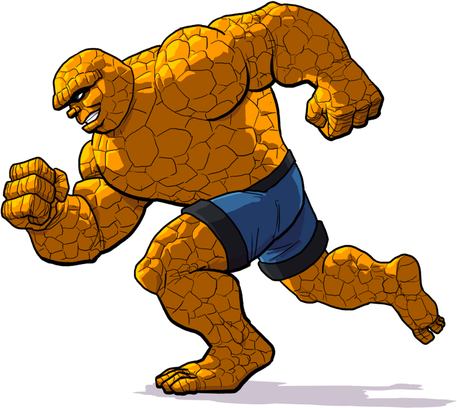 Drawing marvel thing. Download fantastic four png