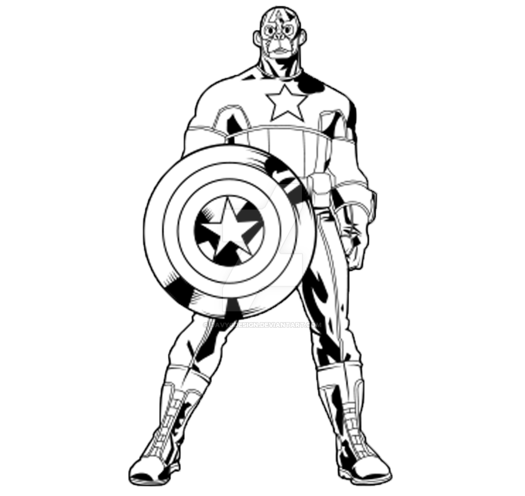Drawing marvel captain america. Outline monkey by davygdesign