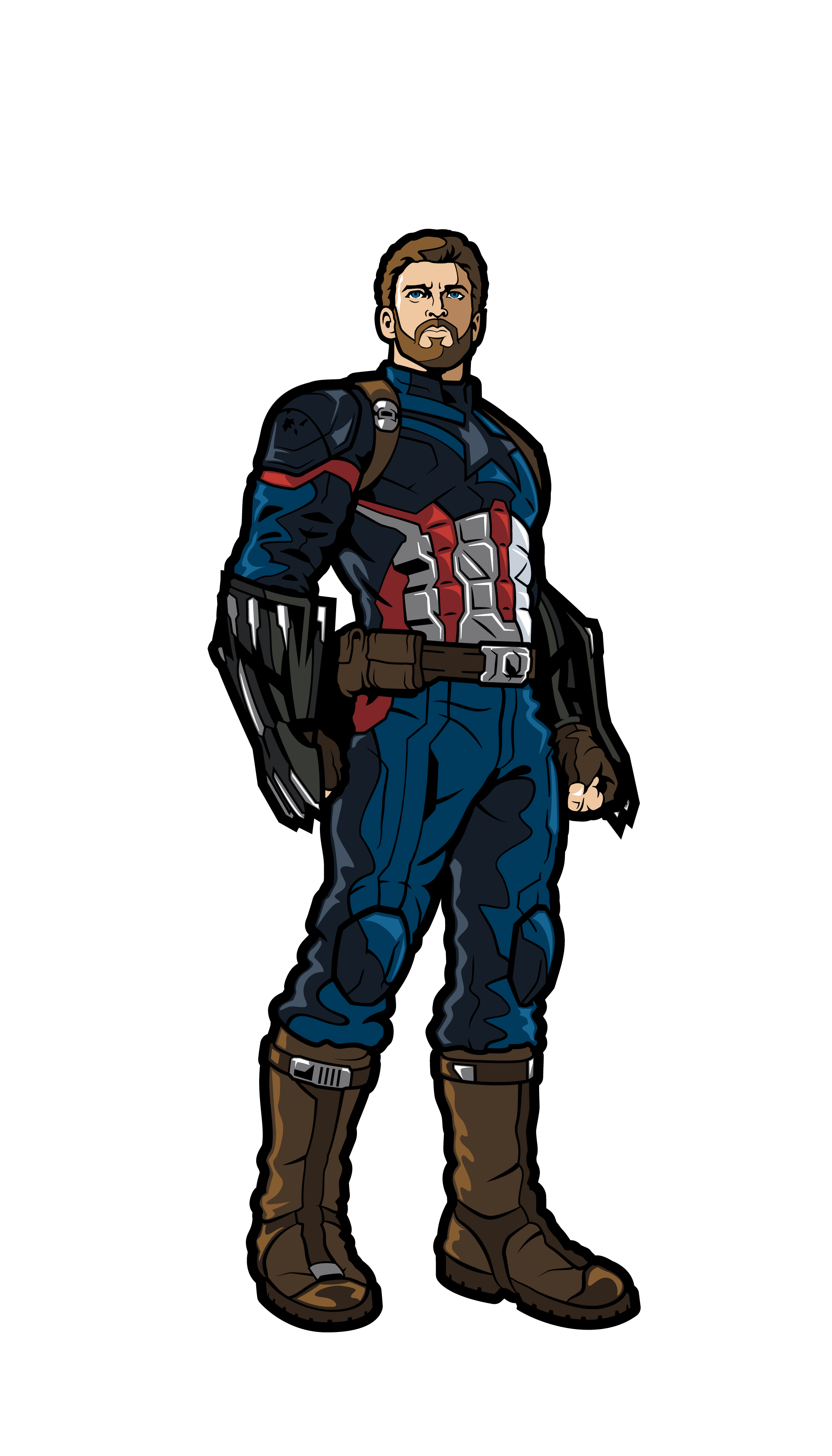 Drawing marvel captain america. Figpin