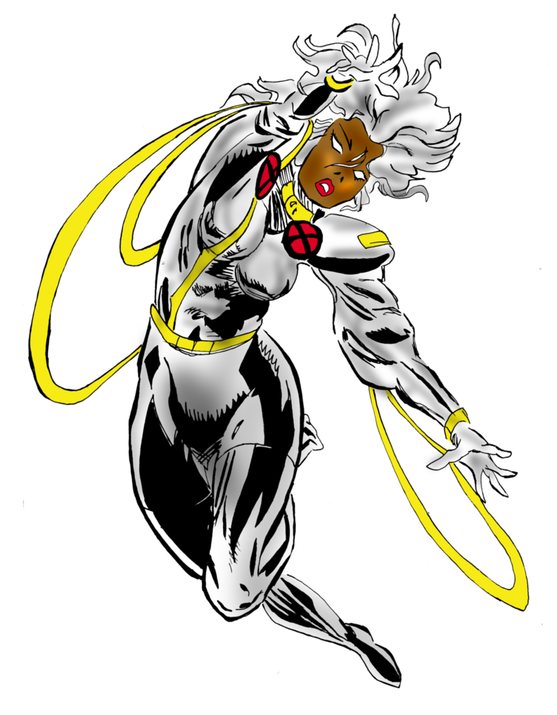 Drawing marvel cartoon. Storm of the x
