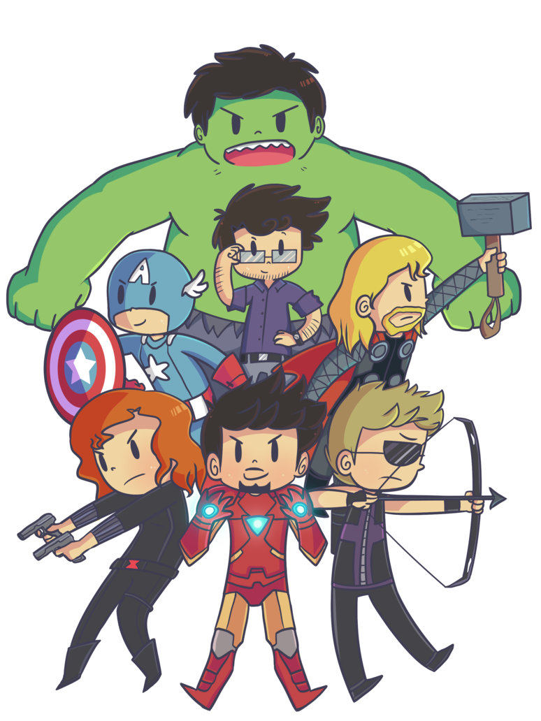 Drawing marvel cute. The avengers by ecokitty