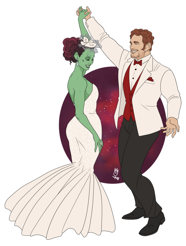 Drawing marvel gamora. And peter wedding gotg
