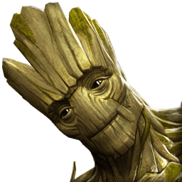 groot transparent fighting