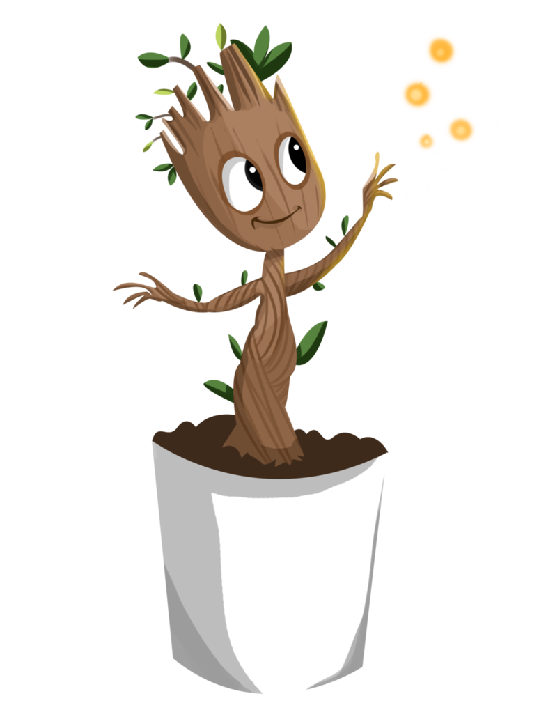 Drawing marvel groot. Baby by trujayy on