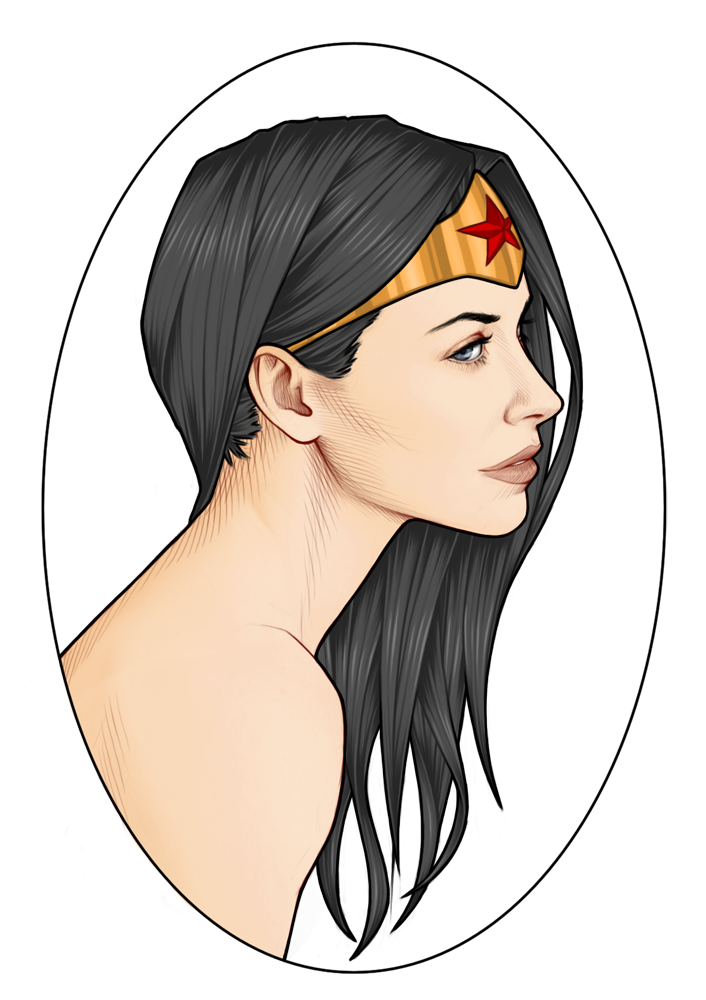 Latest drawing wonder woman. Portrait by georgel mcawesome