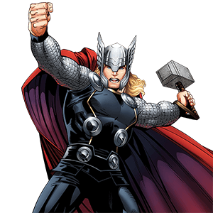 Thor vector comic. Marvel hq kids and