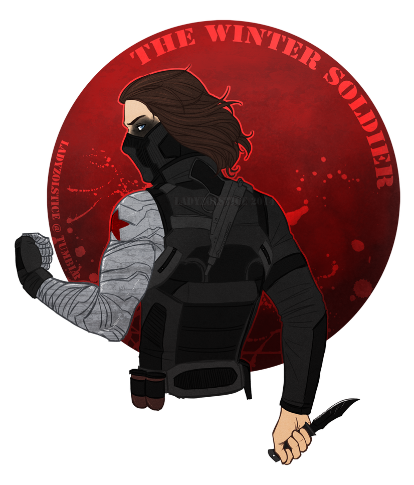 Drawing marvel winter soldier. The by ladyzolstice on