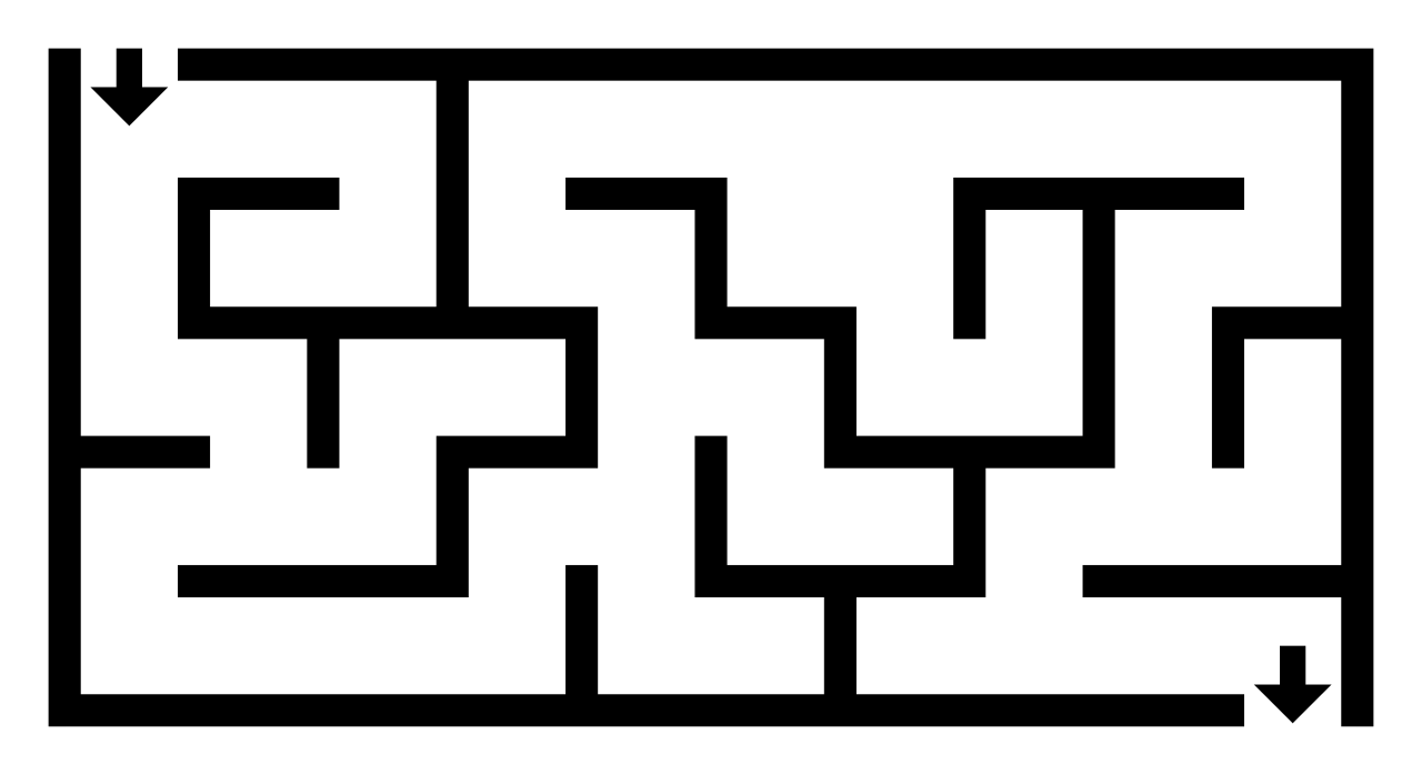 drawing maze easy