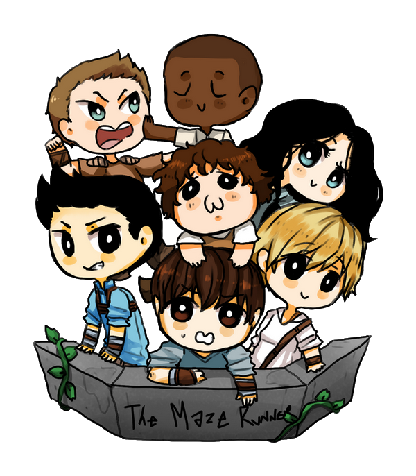 Drawing maze runner. Gladers by reikiwie on