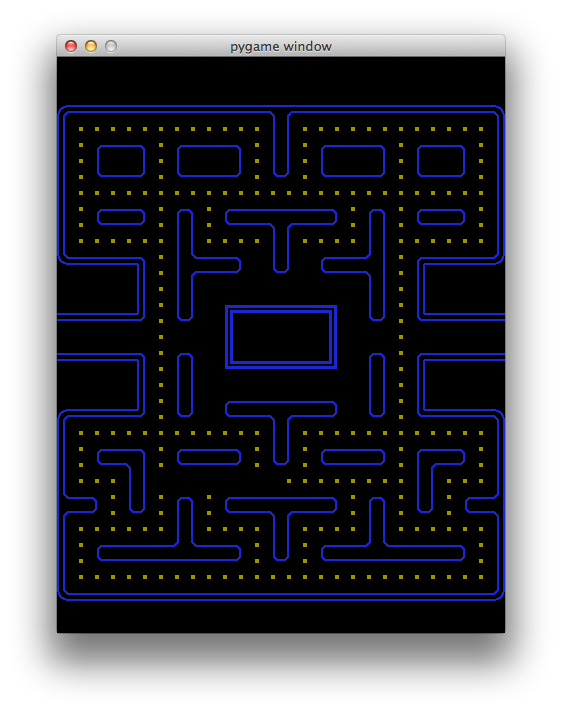 Drawing mazes background. Making the pacman maze