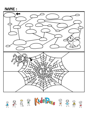 Drawing mazes kid. Medium kids maze games