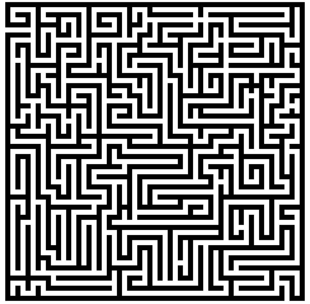 Drawing mazes newspaper. A line can also