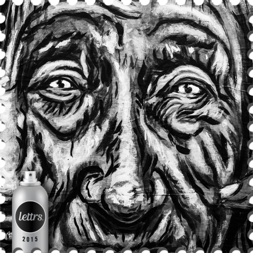 Drawing medium close up. Lettrs art from all