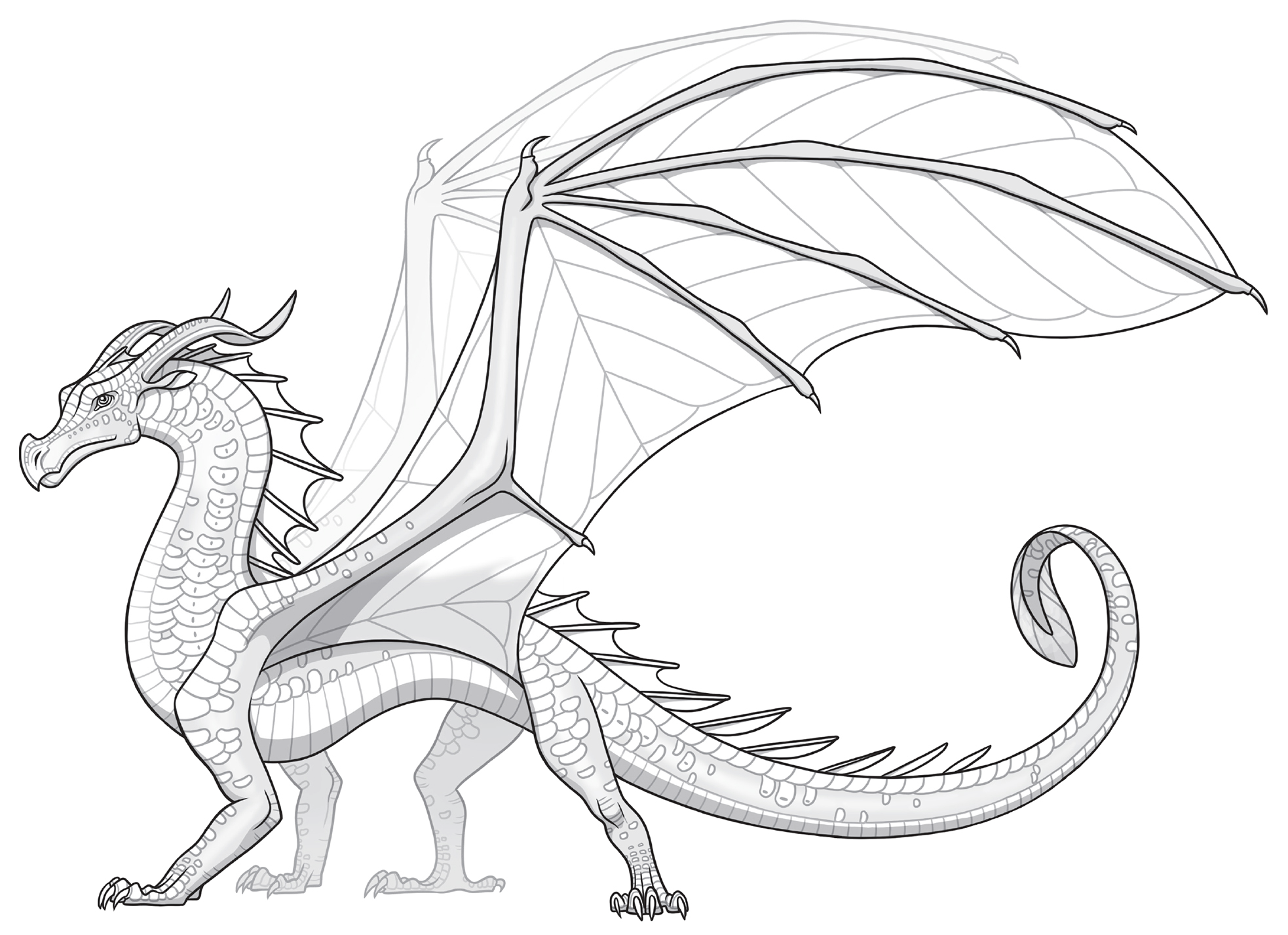 Latest drawing. Leafwings wings of fire