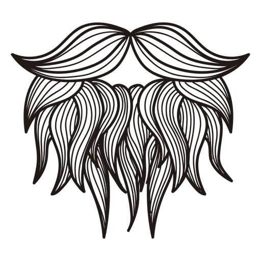 Hipster transparent gray. Moustaches beards drawing vector