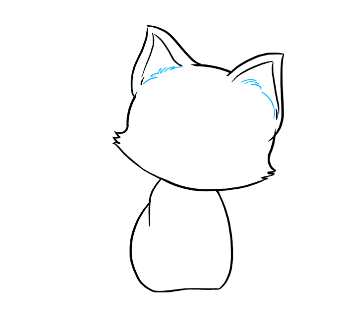 Drawing medium kitten. How to draw really