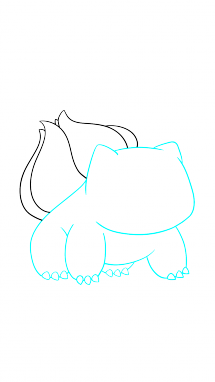 Drawing medium step by. How to draw bulbasaur