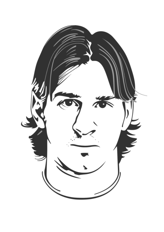 Drawing Messi Easy Transparent Png Clipart Free Download Ya