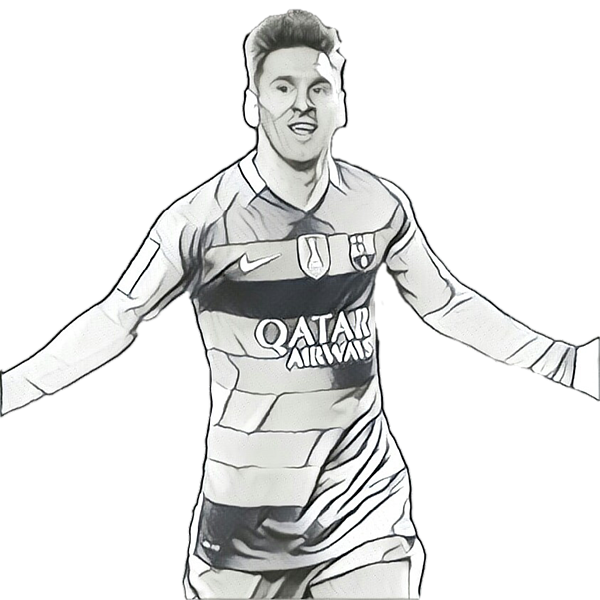 Drawing messi. Kids t shirt for