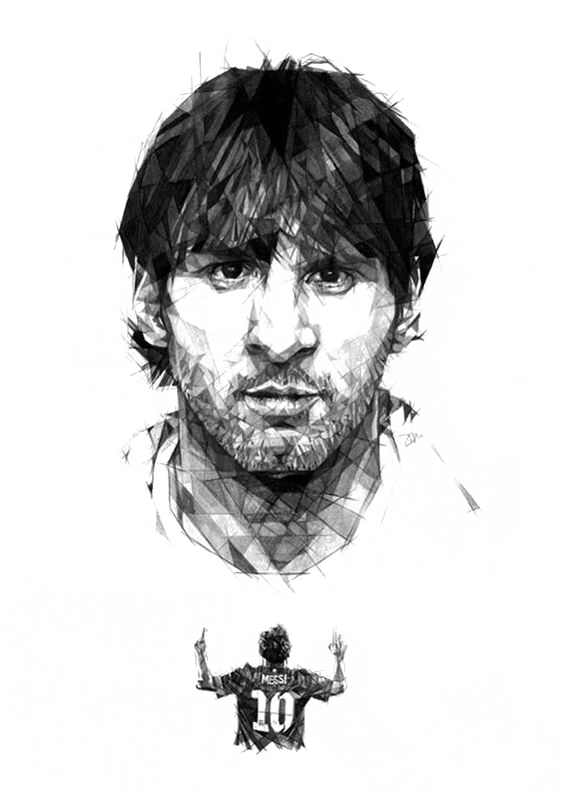 Lionel fc barcelona argentina. Drawing messi graphic library stock