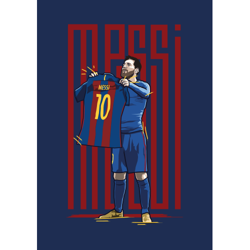 Drawing messi shirt. Lionel holding celebration print
