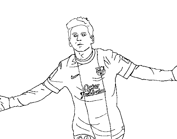 Drawing messi color pencil. Coloring page coloringcrew com