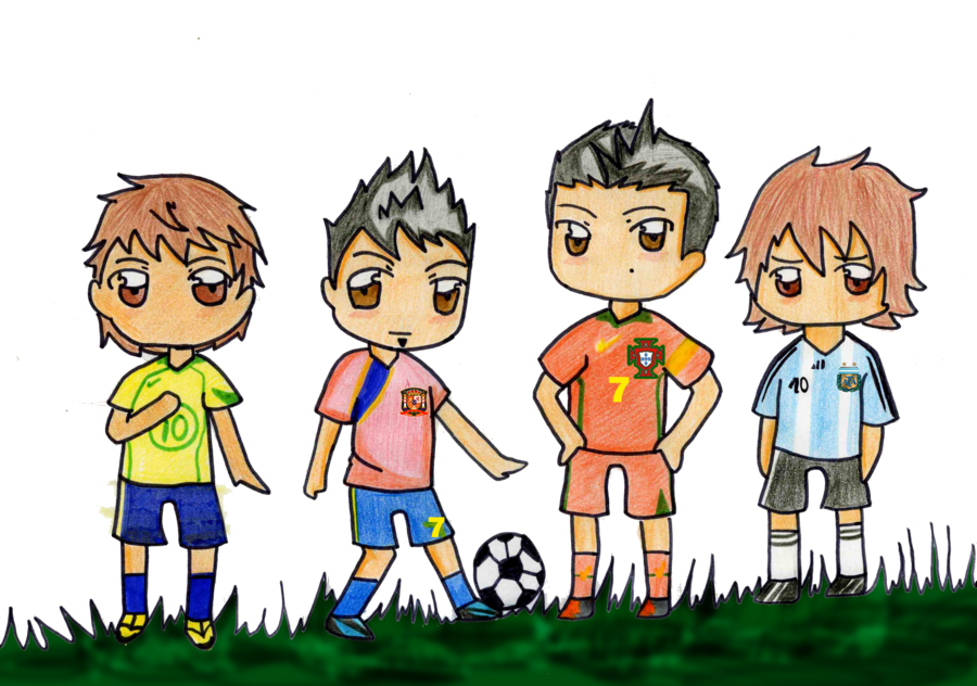 Drawing messi cute. Chibi selection players by