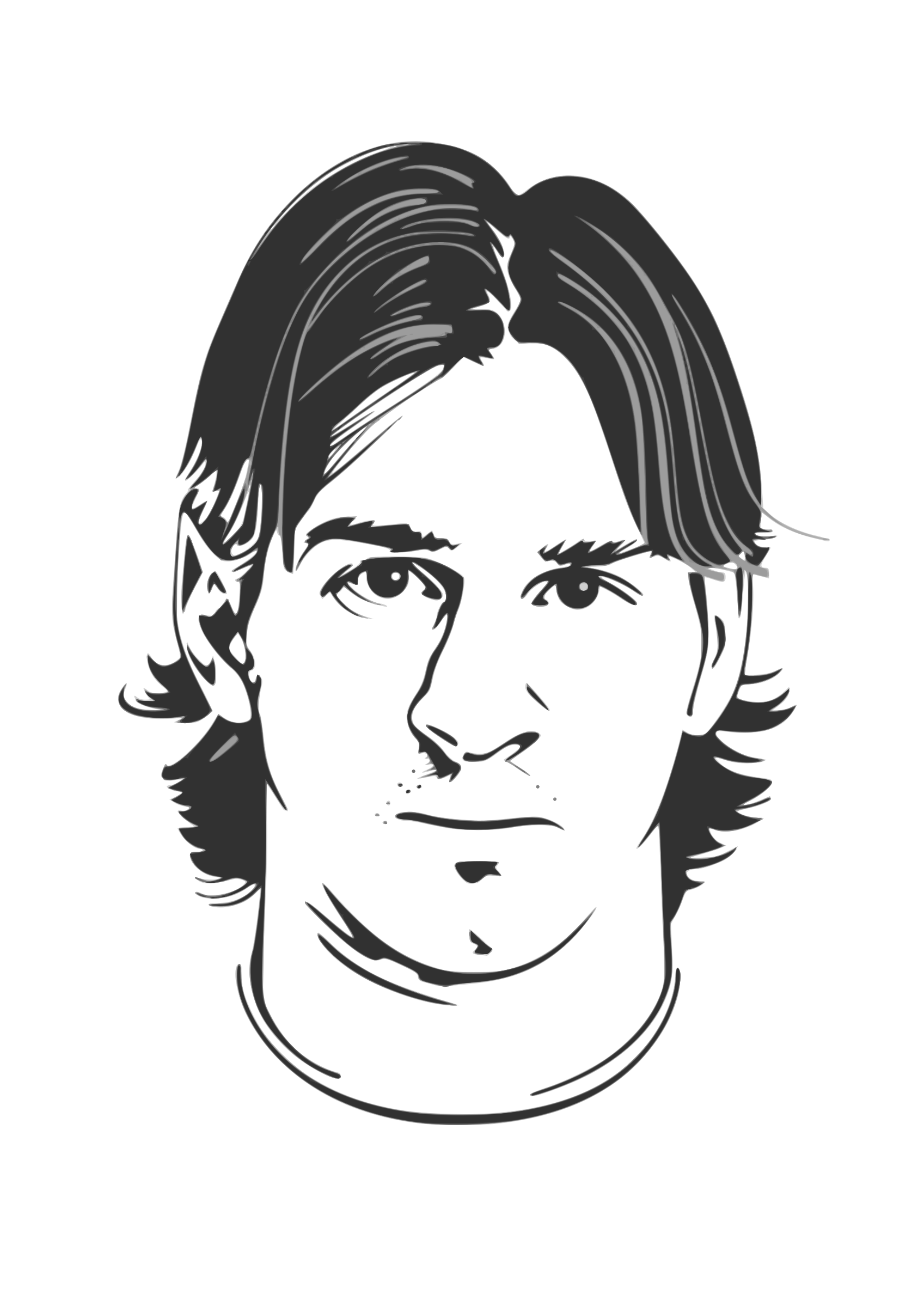 collection of face. Drawing messi easy clipart transparent stock