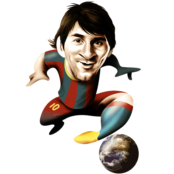 Drawing messi full body. Excelentes caricaturas de jugadores