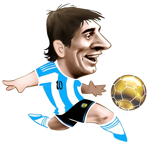 Excelentes caricaturas de jugadores. Drawing messi full body picture free stock