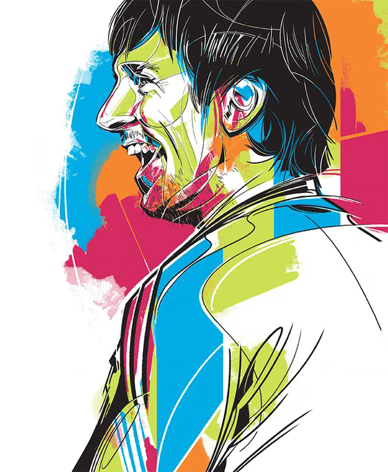 Drawing messi illustration. Fc barcelona transprent png