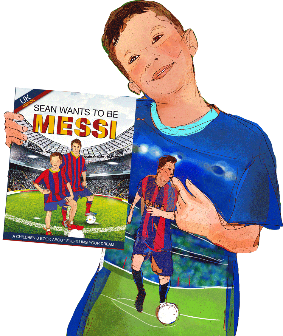 Drawing messi kid. Sean wants to be