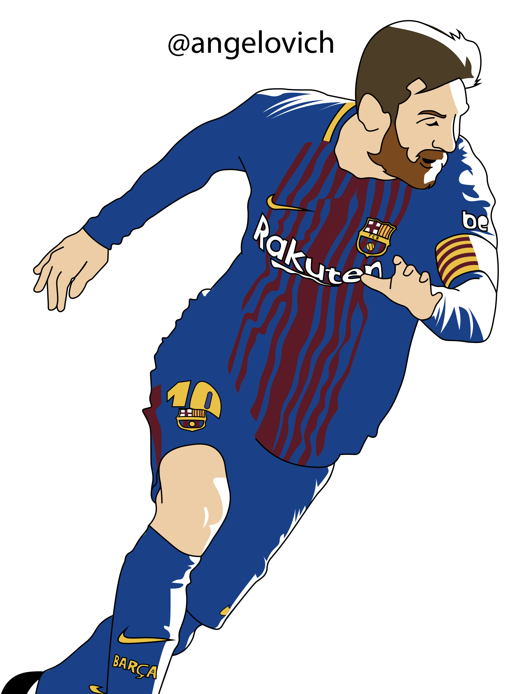 Drawing messi line. To almost being the