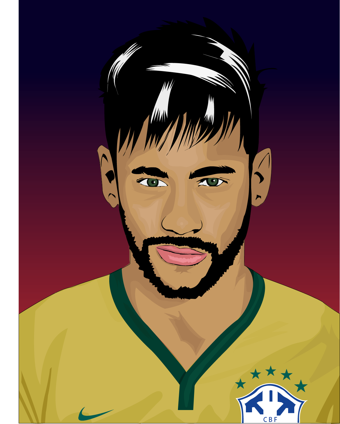 Drawing messi neymar jr. Drawn in cartoon style