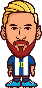 Drawing messi outline. Lionel logo vector ai