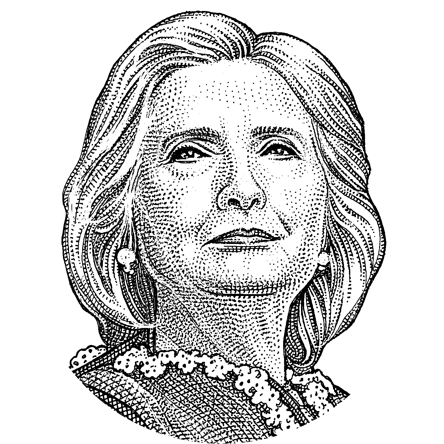 Vote drawing easy. Collection of hillary
