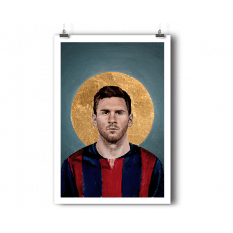 Drawing messi poster. Lionel football icon balibart