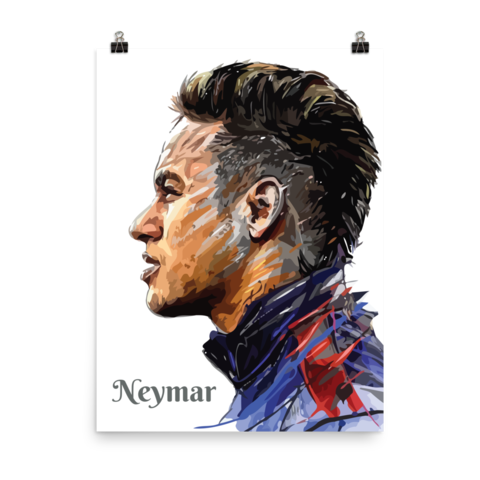 Drawing messi poster. For youth football gift