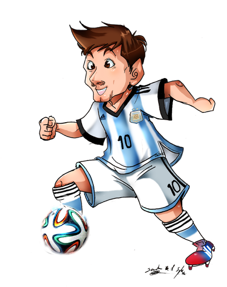 Drawing messi soccer. Ready for the world
