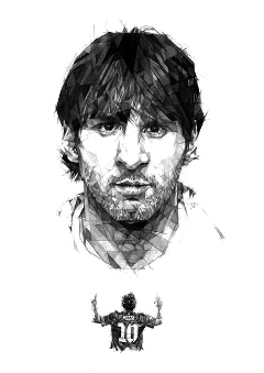 Drawing messi portrait. Popular and trending lionel